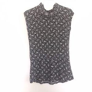 H&M Geometric Drop Waist Sleeveless Tunic